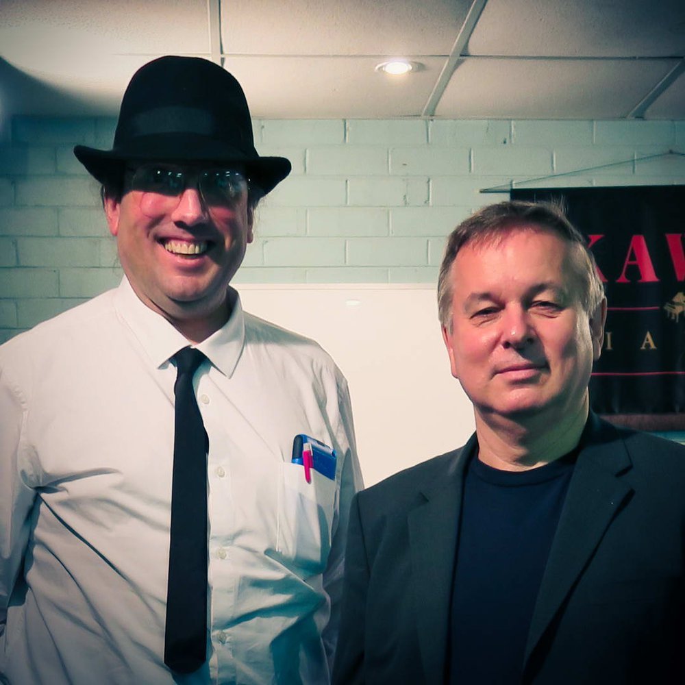 Stephen with internationally famous composer Christopher Norton.