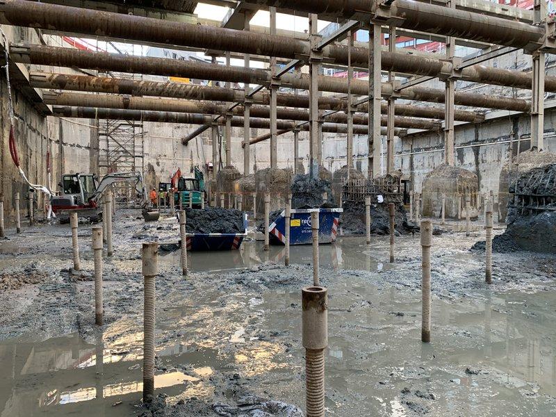 Construction parking Garenmarkt BESIX