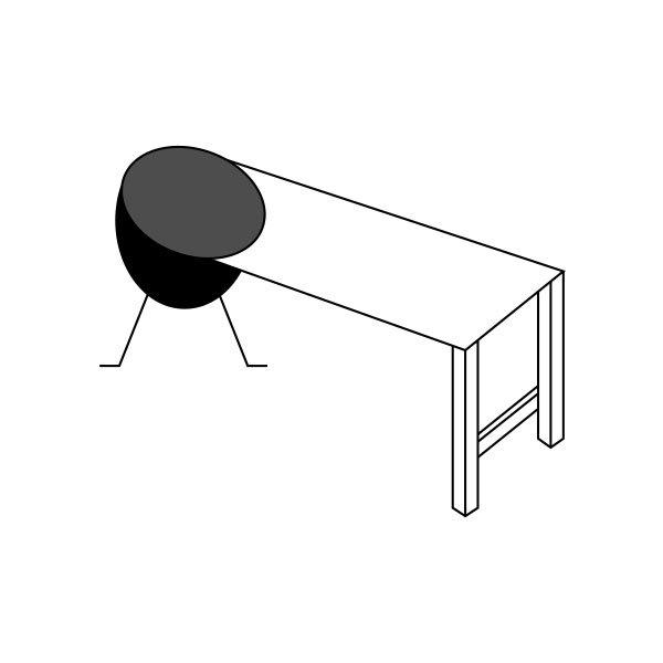 Skizze um einen Grillablagetisch für den Grill selber bauen zu können