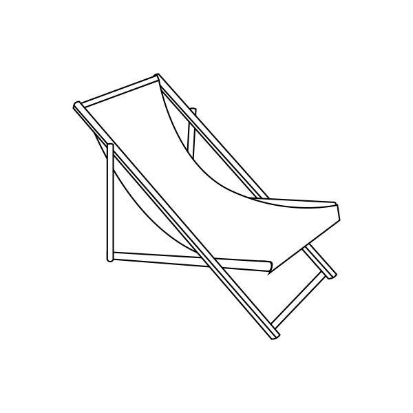 Skizze um einen Liegestuhl selber zu bauen, damit Du besser Urlaub zu Hause machen kannst