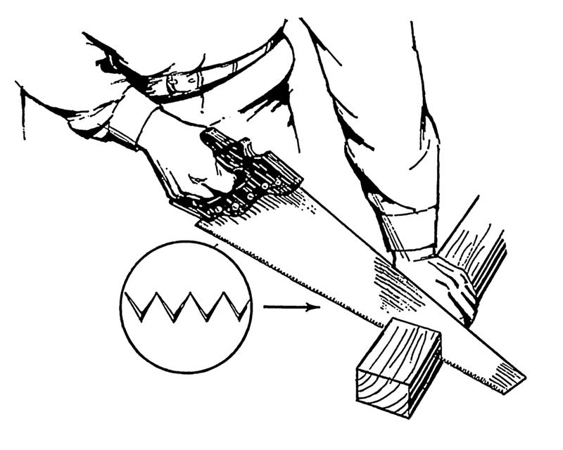 Ein Fuchsschwanz für Arbeiten mit Holz