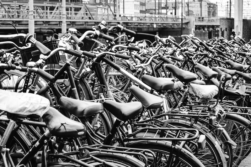 Bikes in Amsterdam Centraal