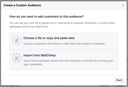 Screenshot showing how to automate sales outreach using Facebook custom audiences