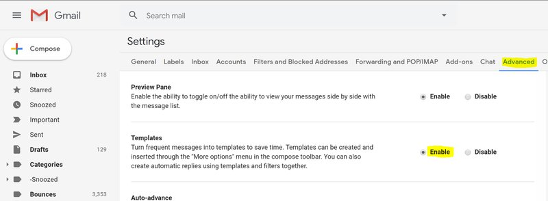 Gmail Templates fka Canned Responses
