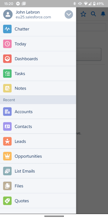 salesforce on mobile