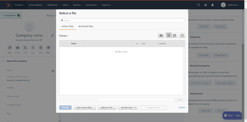 creating entities in hubspot