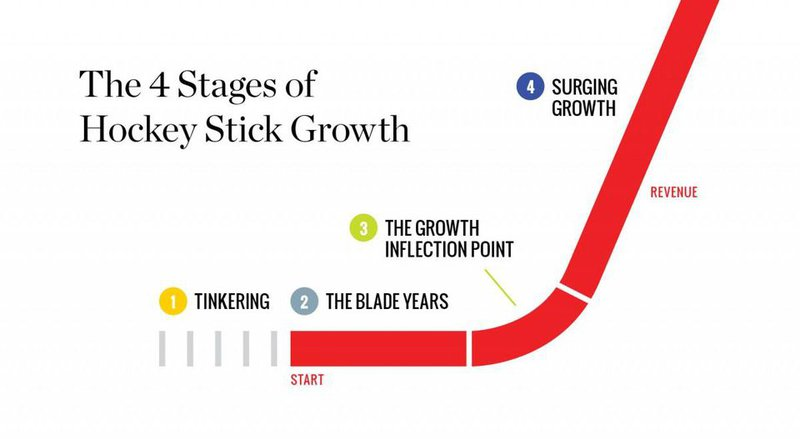 4 stages of hockey stick growth