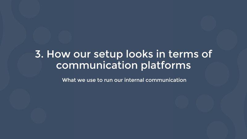 how salesflare runs their internal communication