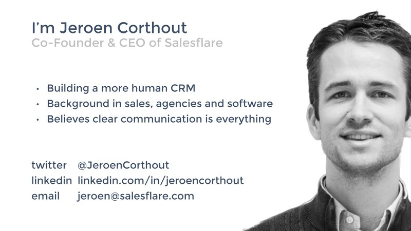 introduction and contact details of jeroen