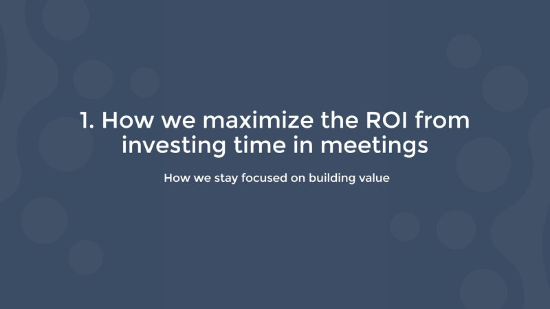 how salesflare maximizes the ROI from investing time in meetings