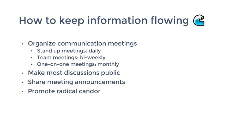 tips to keep information flowing