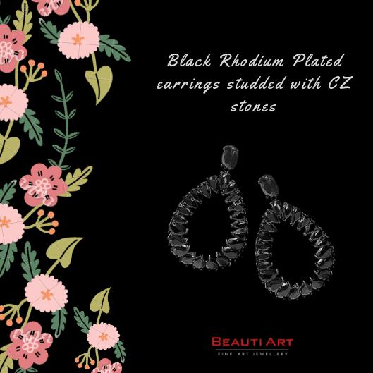 black earrings for western dresses