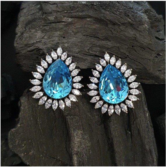 Black Rhodium Fashion Earrings