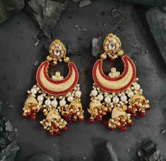 Fashion Earrings Chand Bali