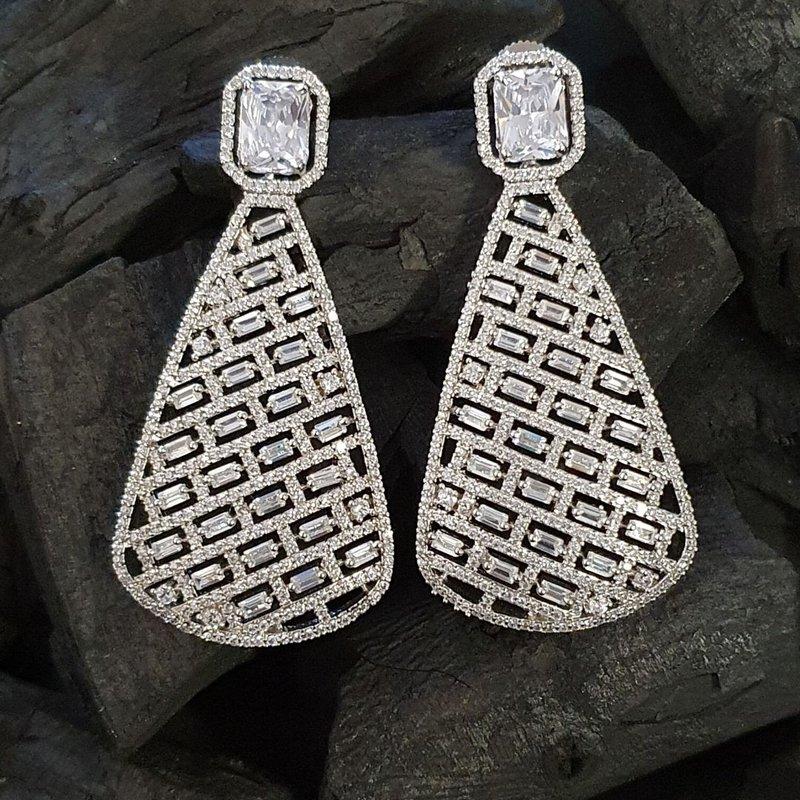 CZ Stone Earrings by Beautiart Fashion Jewellery