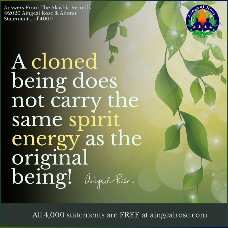 A cloned being... Answers From The Akashic Records with Aingeal Rose & Ahonu https://links.ahonu.com/aftar