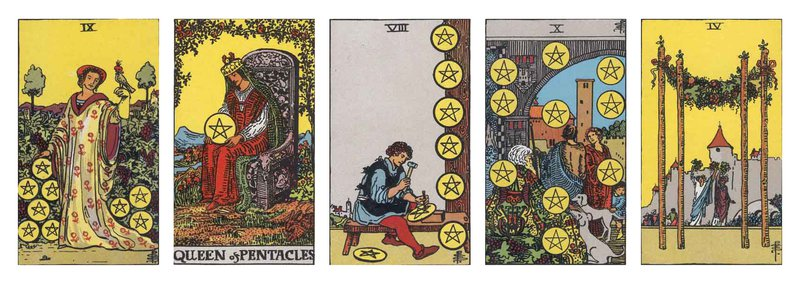 Sample cards from Advanced Tarot Spreads: 22 Deep Card Layouts for Experienced Readers