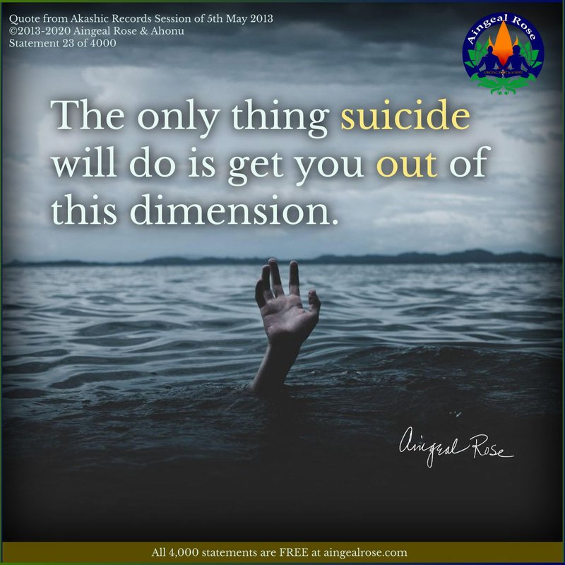 Suicide in Answers From The Akashic Records with Aingeal Rose & Ahonu