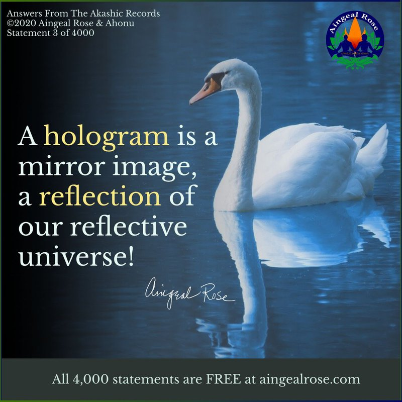 A hologram...Answers From The Akashic Records with Aingeal Rose & Ahonu