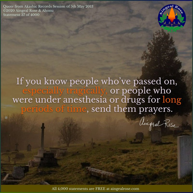 Send them prayers... Answers From The Akashic Records with Aingeal Rose & Ahonu