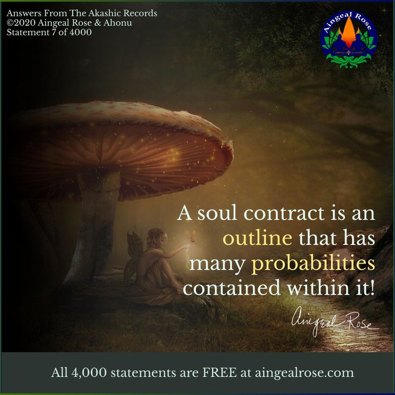 A soul contract... Answers From The Akashic Records with Aingeal Rose & Ahonu