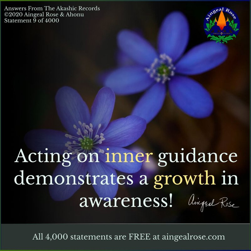 Acting on inner guidance... Answers From The Akashic Records with Aingeal Rose & Ahonu