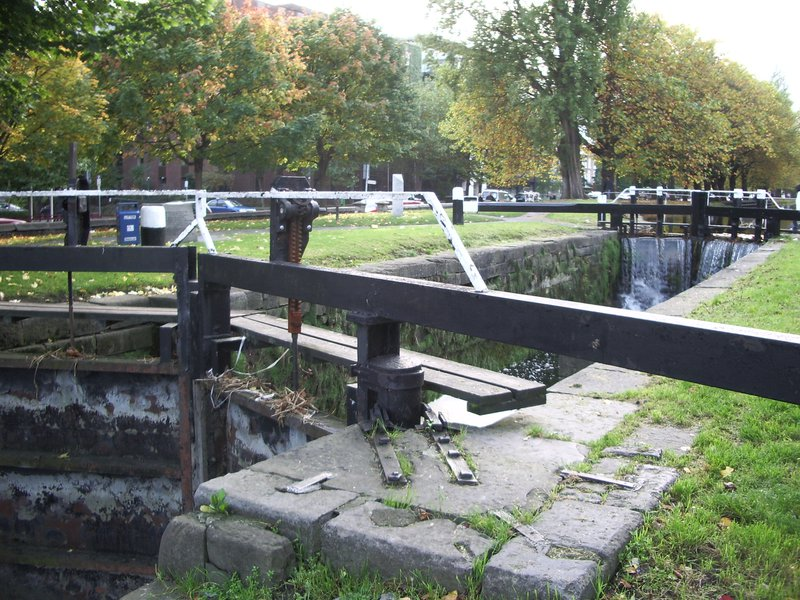 One of the locks on the canal
