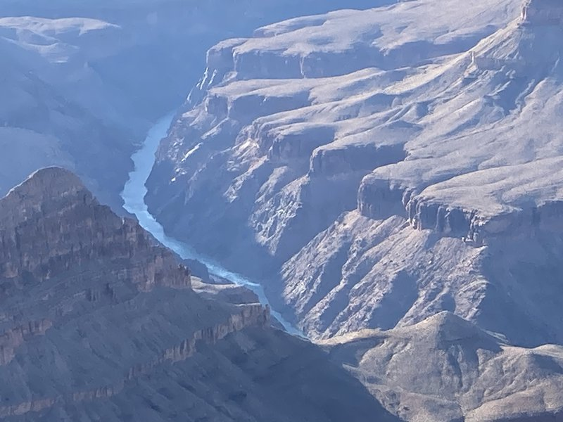 The Colorado River flowing down the Grand Canyon