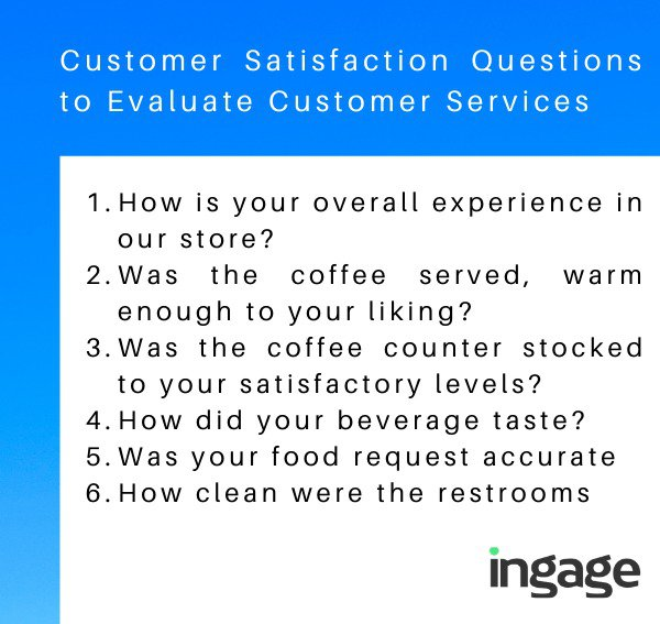 Customer Satisfaction Questions to Evaluate Services