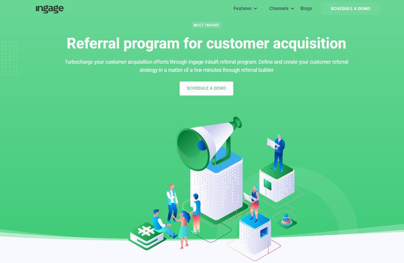 Ingage is a referral program software