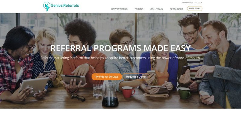 Genius Referrals is a referral program software