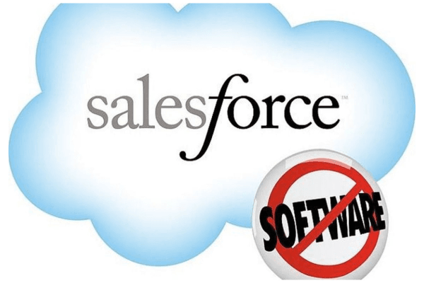 The famous Salesforce No Software Campaign