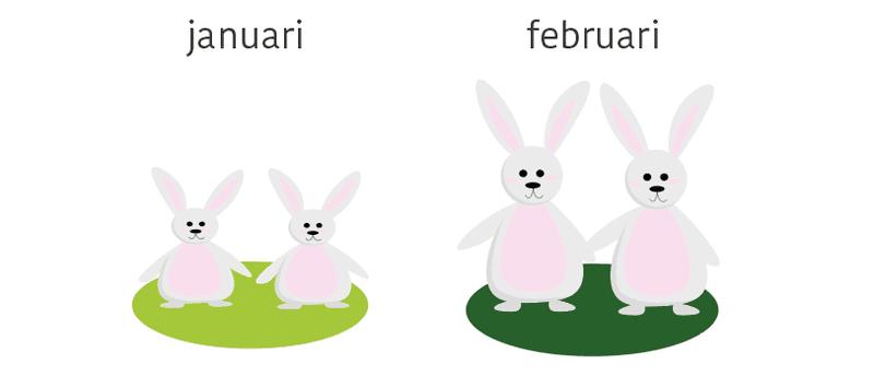 fibonacci rij formule konijnen