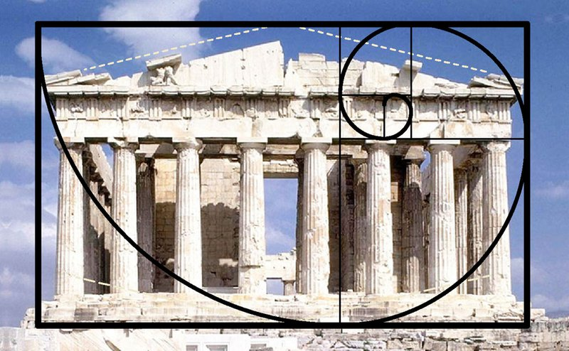 parthenon gulden snede