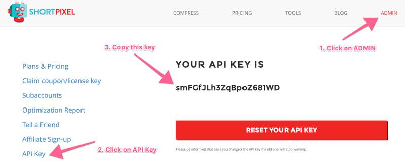 How to get short pixel's API key: helping you as digital marketing consultants