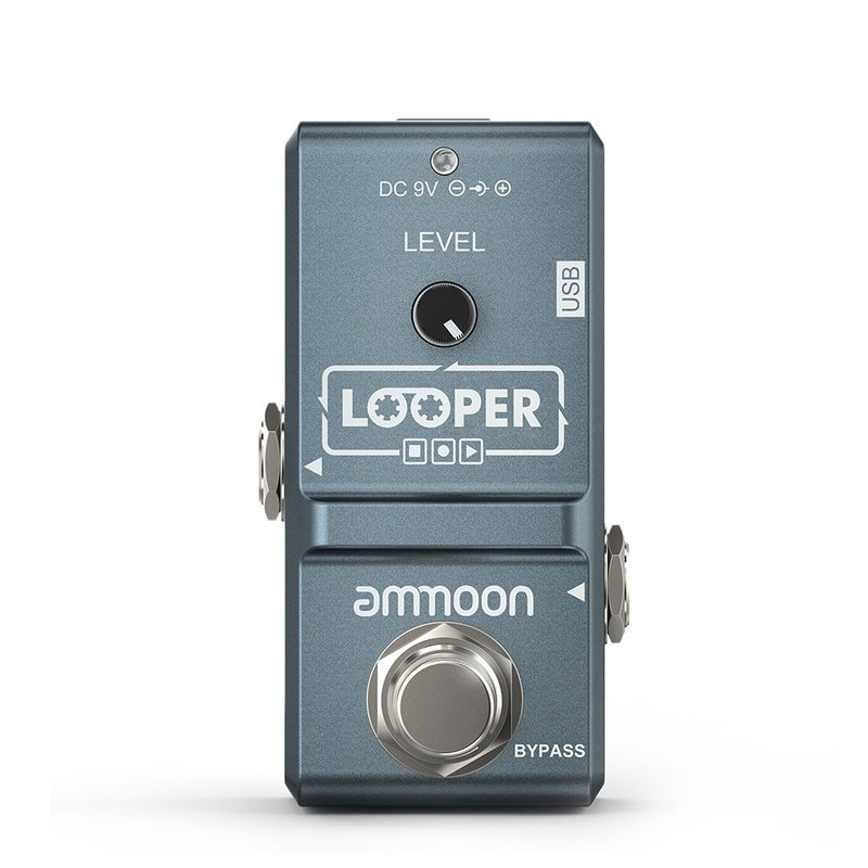 Ammoon AP-09 Nano Loop Electric Guitar Effect Pedal Loop True Bypass Unlimited Overdubs 10 Minutes Recording with USB Cable