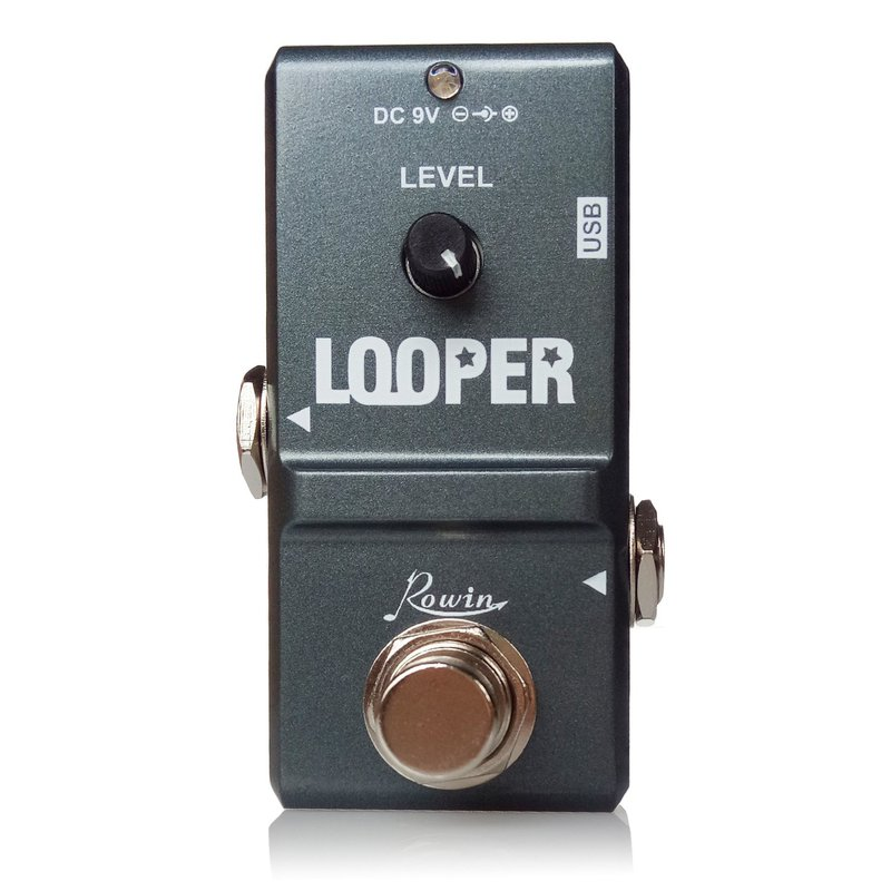 Rowin Tiny Looper Electric Guitar Effect Pedal 10 Minutes of Looping Unlimited Overdubs