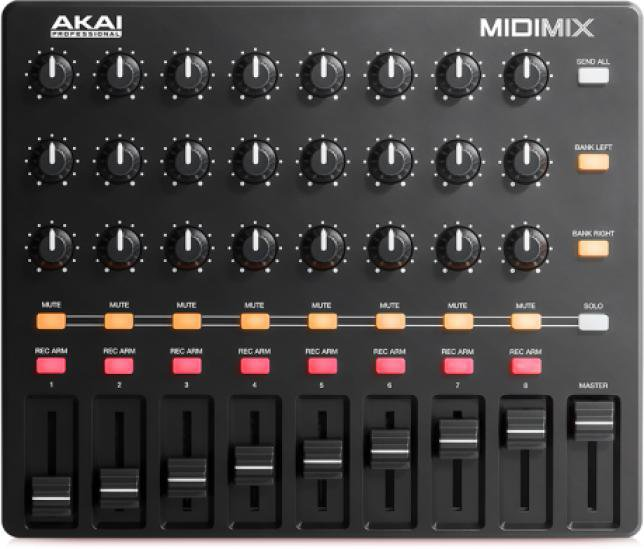 Akai MIDIMIX MIDI controller with buttons and sliders