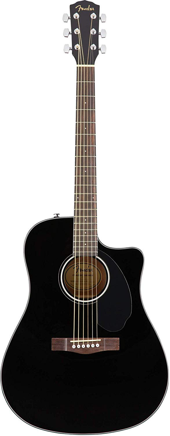 Black Fender Acoustic Electric guitar