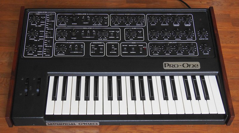 Pro-one MIDI controller with 37 keys