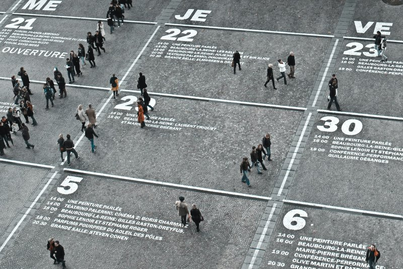 The Centre Pompidou calendar