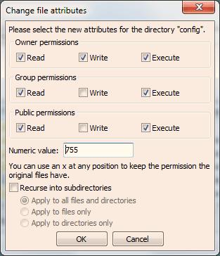 PrestaShop File Permissions