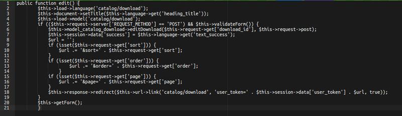 OpenCart RCE code 1