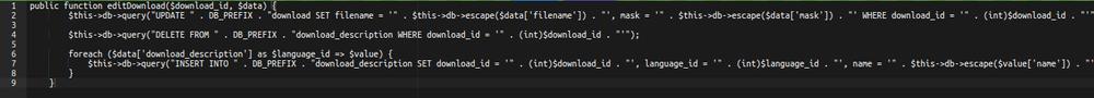 OpenCart RCE code 2