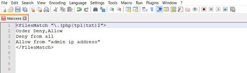 hacked website repair using .htaccess