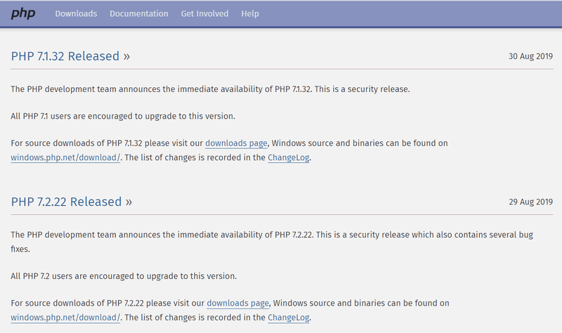 Vulnerability in php