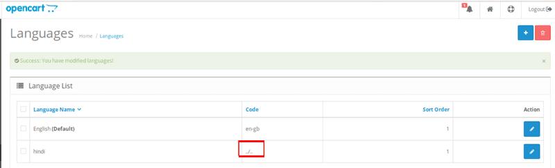 OpenCart Languages
