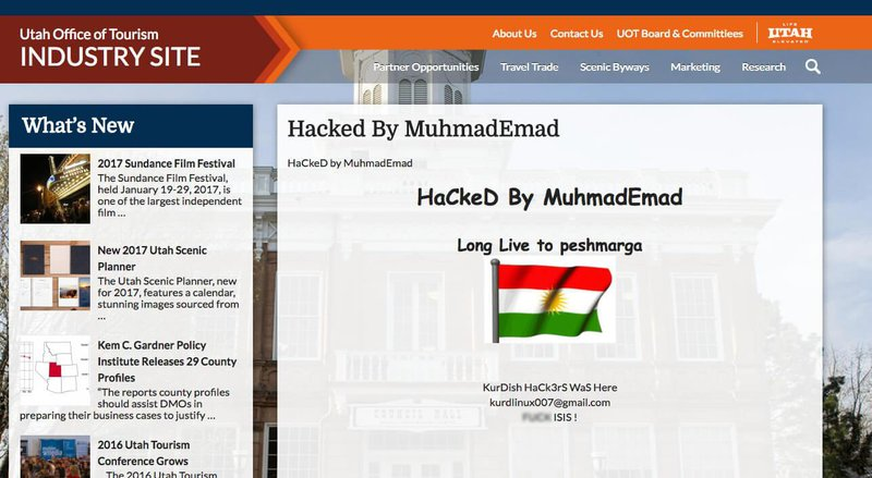example of defaced website